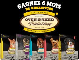 6 sacs de nourriture pour chien «Oven-Baked traditions» à gagner